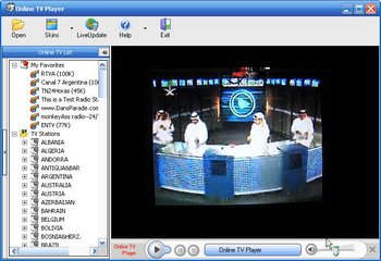 Watch TV Stations From The World Around: Online TV Player